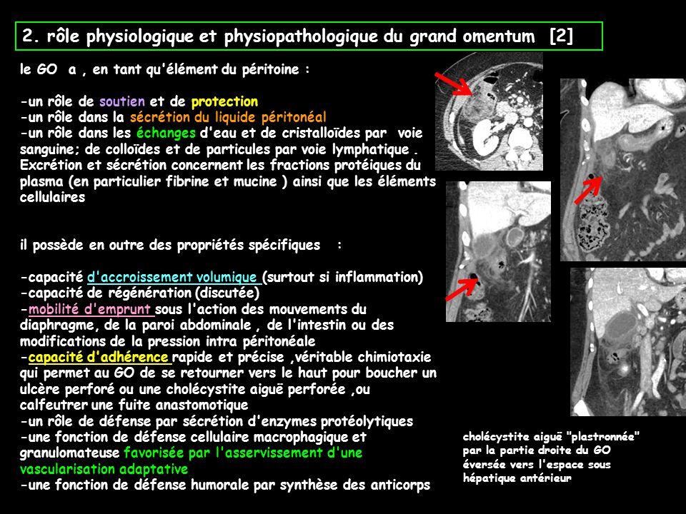 2. rôle physiologique et physiopathologique du grand omentum [2]